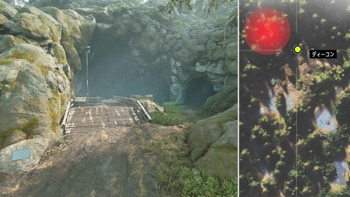グロット洞窟群にあるNEROの調査現場