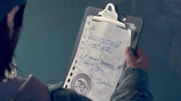 最後にサラに渡されたメモ書き