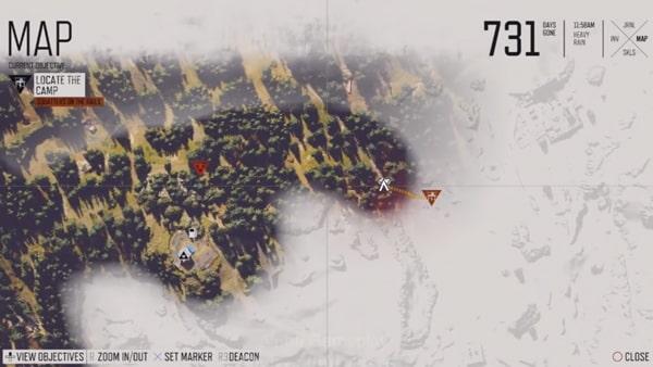 デイズゴーンのマップ画像