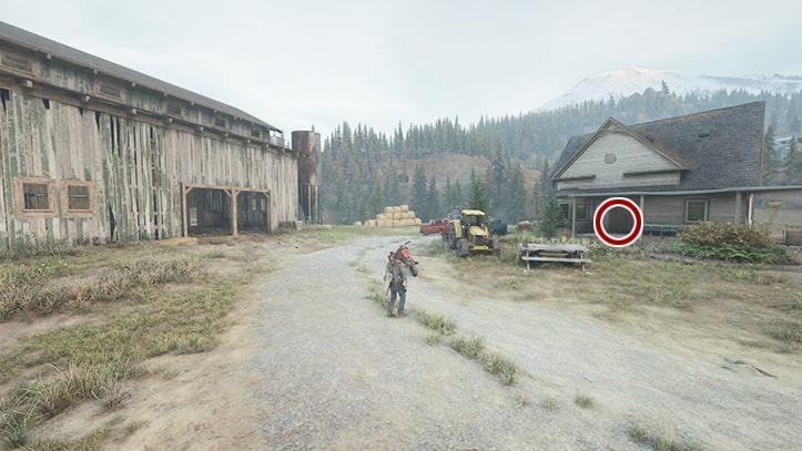 農場で調べる場所を示す画像