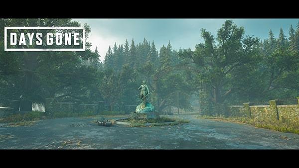 デイズゴーンのフォトモードで撮影した風景画像