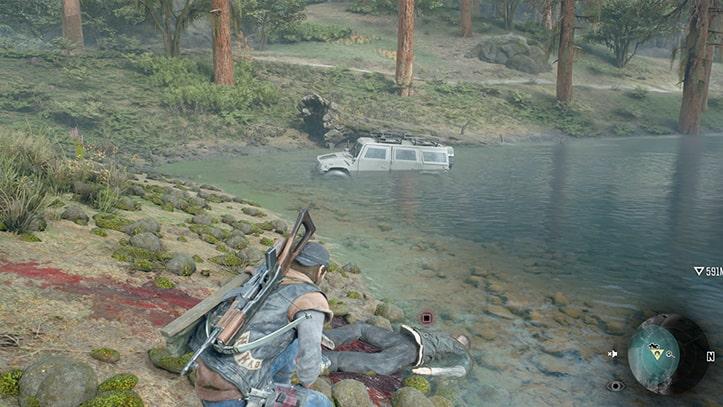 ディーコンが死体を調べている光景