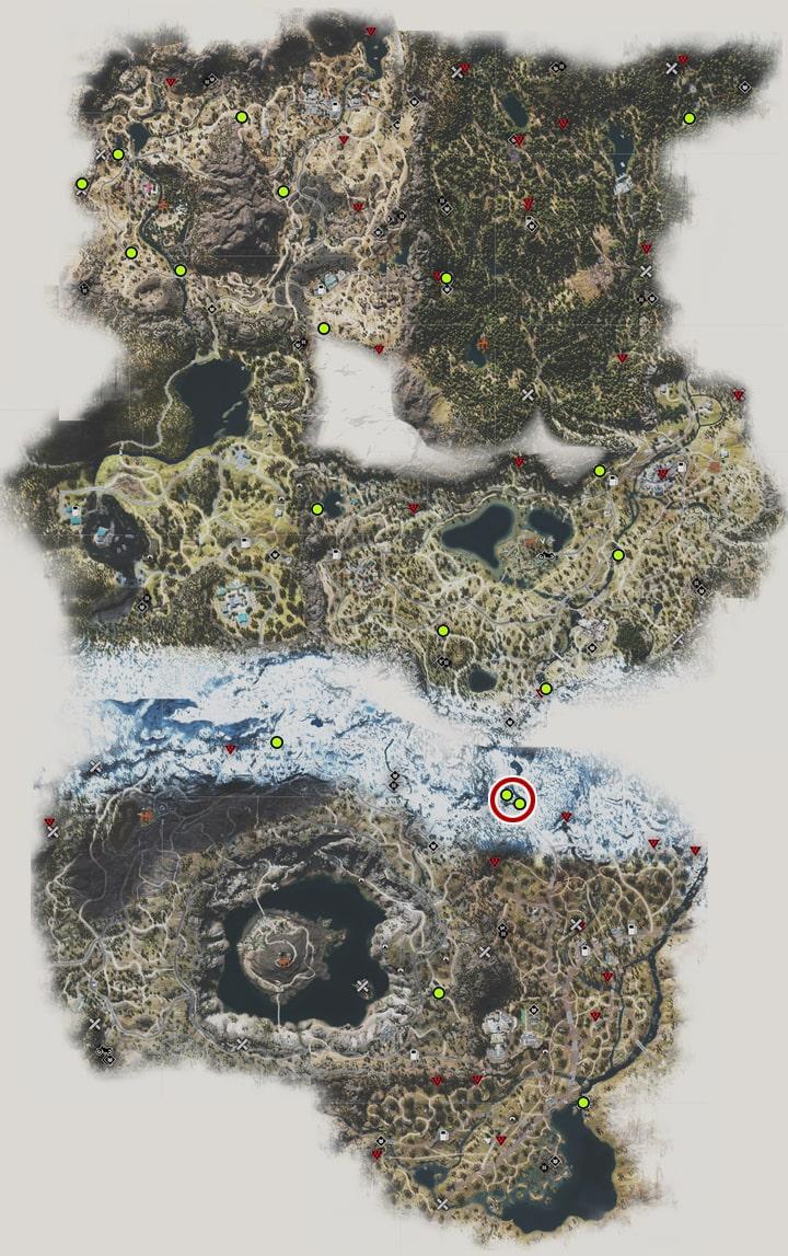 アナーキストの積み石の場所マップ