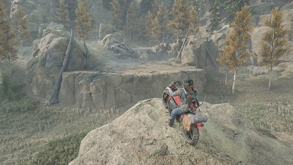 デイズゴーンのバイクと風景画像