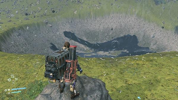 対消滅(ヴォイドアウト)でできたクレーターの風景