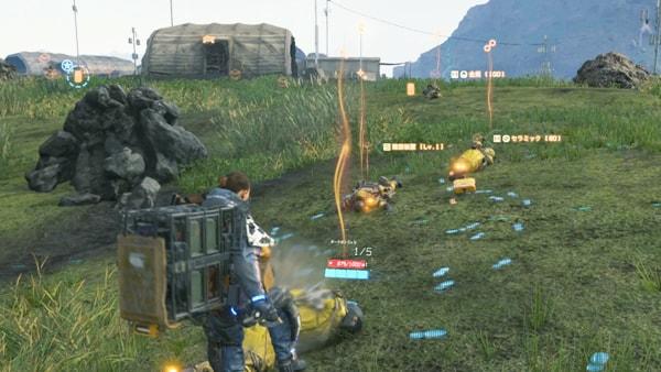 サムがミュールの基地を襲撃している画像