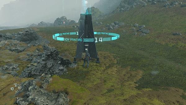 簡易観測塔を立ててるシーン