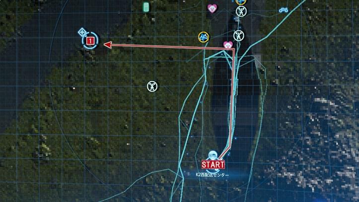 サム指名依頼No.10『橋を建設せよ』の攻略概要の攻略マップ