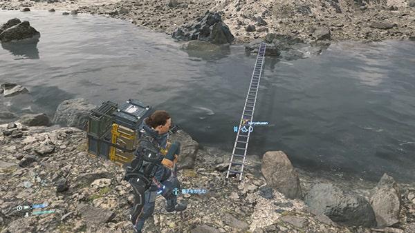 サムが川に橋を架けてる画像