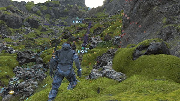K2西遺体焼却所までの崖の様子