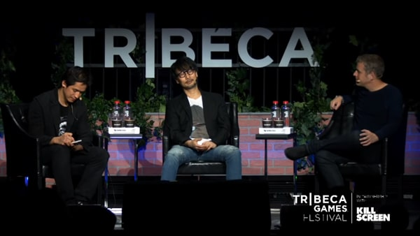 Tribecca Game Festivalでの小島秀夫氏のトークショーの様子