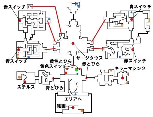 遺跡のマップ