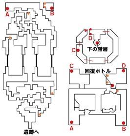 遺跡地下のマップ