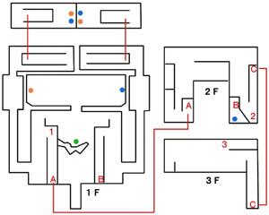 ヒヒュルデの要塞のマップ