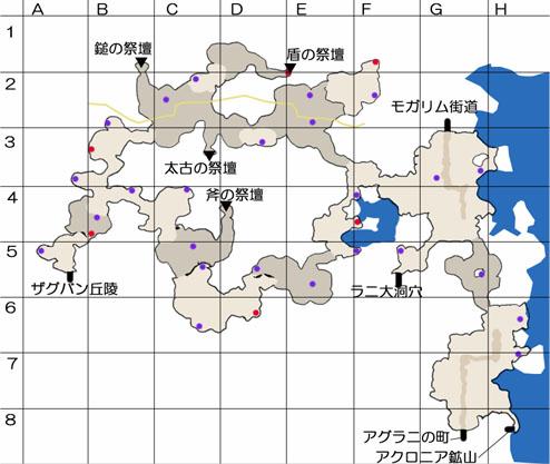 ラニアッカ断層帯のマップ
