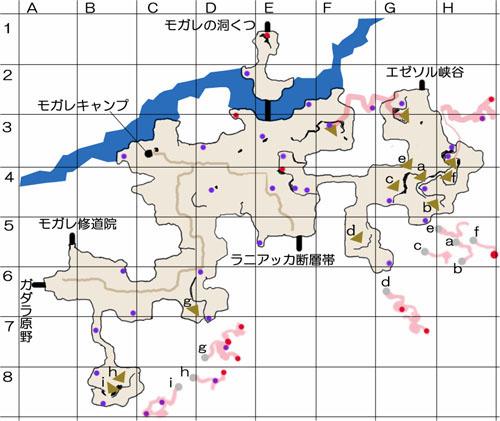 モガリム街道のマップ