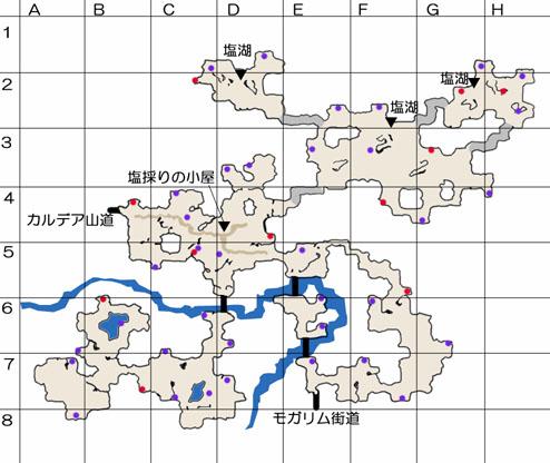 エゾソル峡谷のマップ