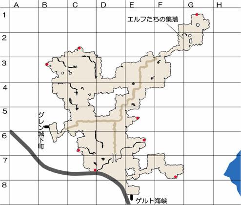 東の荒野のマップ