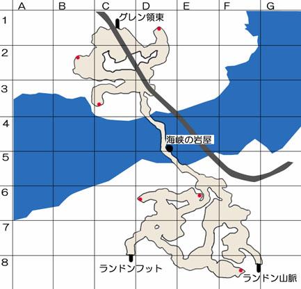 過去のゲルト海峡のマップ