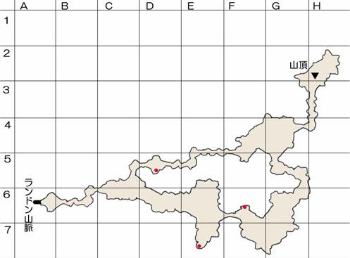 過去のランドン山脈頂上のマップ