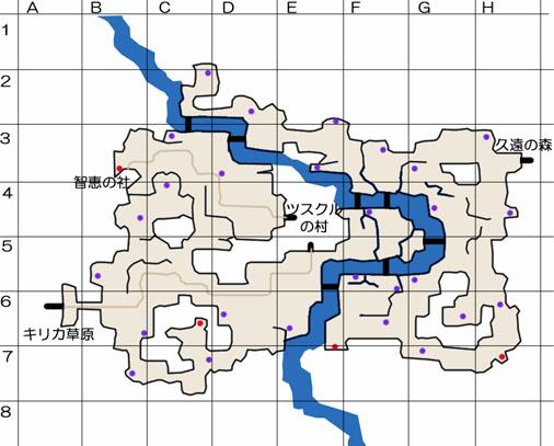 ツスクル平野のマップ