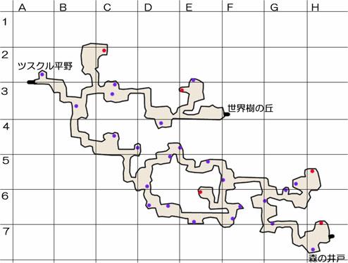 久遠の森のマップ