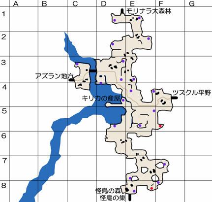 キリカ草原のマップ