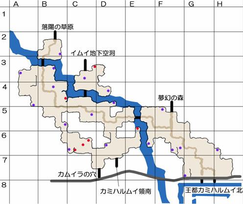 カミハルムイ領北のマップ