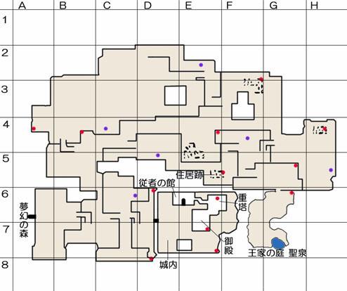 捨てられた城のマップ