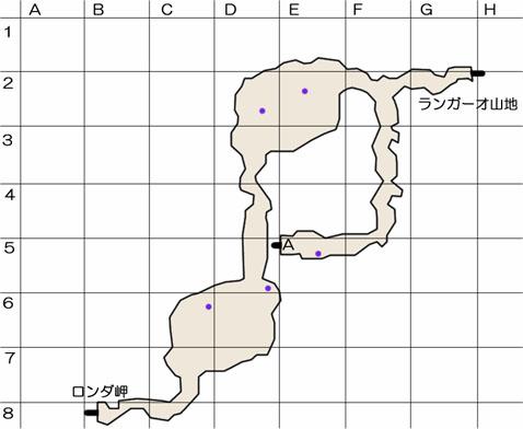 ロンダの氷穴のマップ