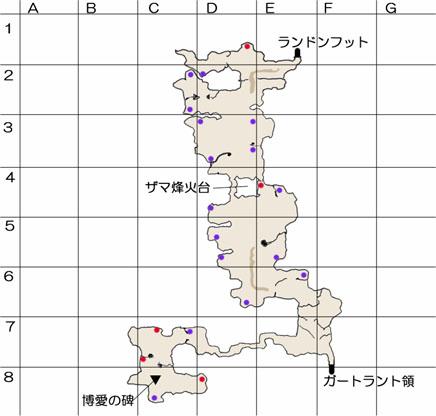 ザマ峠のマップ