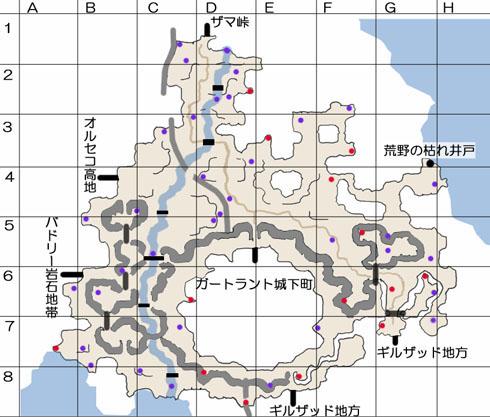 ガートラント領のマップ