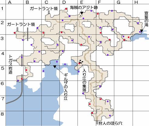 ギルザッド地方のマップ