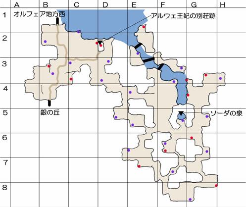 リンクル地方のマップ