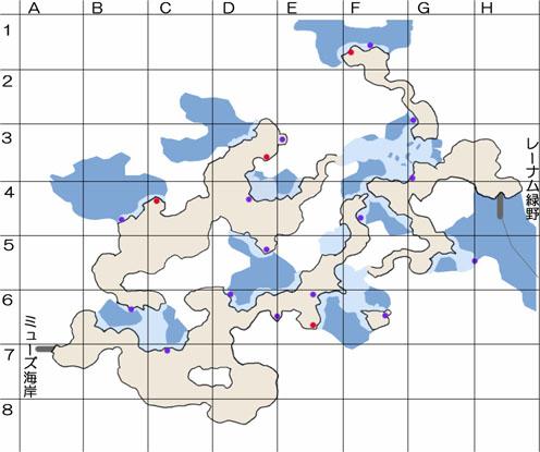 ジュレー島下層大空洞のマップ