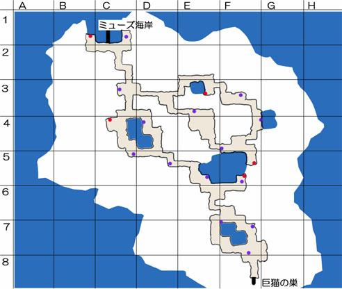 猫島のマップ