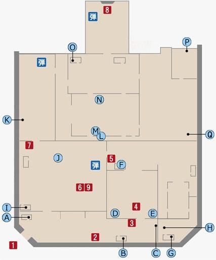 FF15のアラケオル基地のマップ