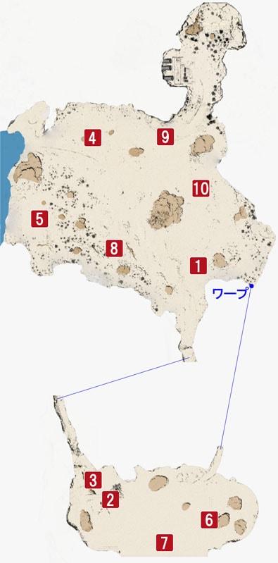 エリアクエストのマップ