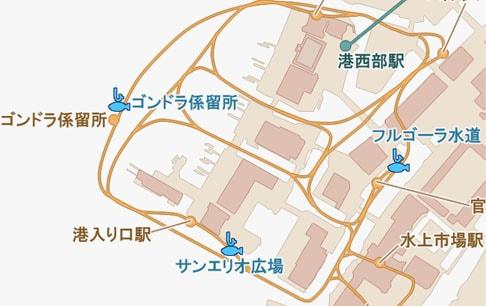 カーニバルフィッシングのマップ