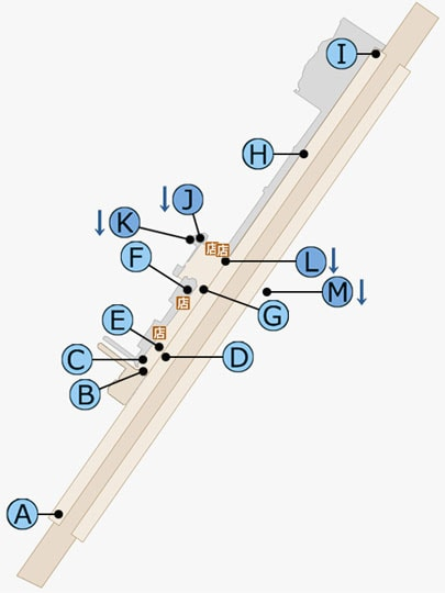 FF15のカルタナティカ駅のマップ