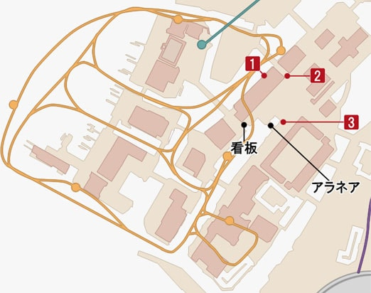 モグチョコシャッターチャレンジの撮影マップ