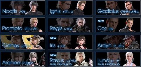 キャラクターの資料