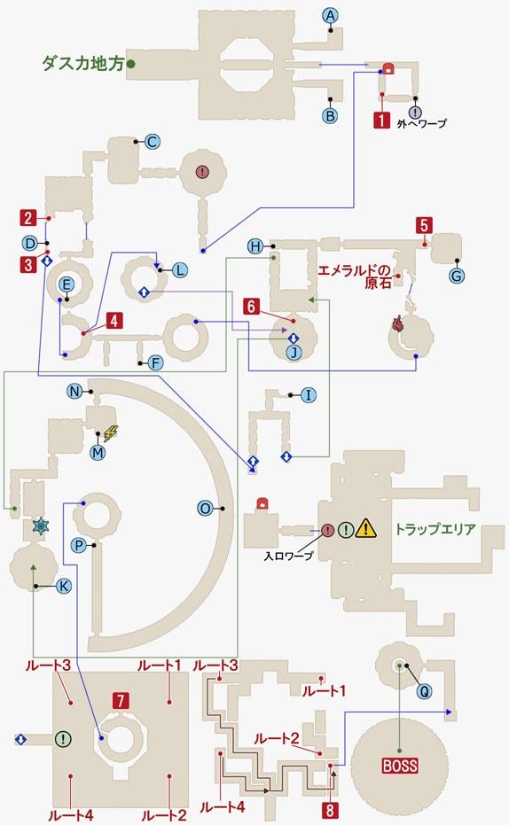 FF15のコースタルマークタワーのマップ