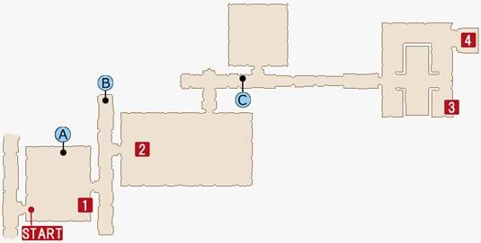 FF15のジグナタス要塞のマップ