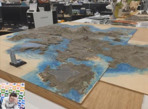 FF15初期の頃のワールドマップの模型の写真