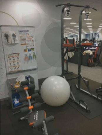 スクエニの総務部より送られてきたトレーニング器具の写真