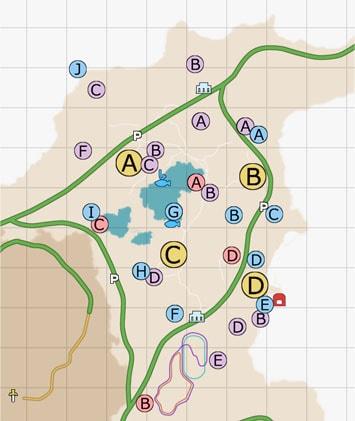 ダスカ地方(北東)のマップ
