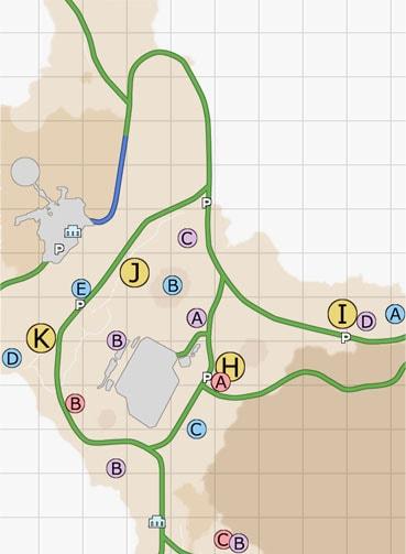 ダスカ地方(北西)のマップ