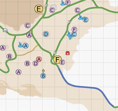 ダスカ地方(南西)のマップ
