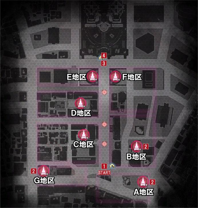 チャプター3の攻略手順マップ